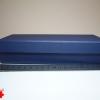 Подарочная коробка: плотний картон, синий цвет. Размер 21,2*12,5*5 см