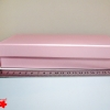 Подарочная коробка: плотний картон, розовый цвет. 21,2*12,5*5 см