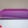 Подарочная коробка: плотний картон, фиолетовый цвет. 21,2*12,5*5 см