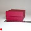 Коробка для подарка. Цвет бордовый. 10*10*5 см