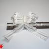 Банты для подарочной упаковки «бабочка». Цвет белый. 25 шт.