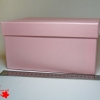 Подарочная коробка. Цвет: розовый. Размер: 24,4*24,4*11