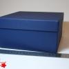 Розмір 20х17х9 см. Коробка зі з`ємною кришкою. Колір темно-синій