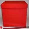 Розмір 25х25х25 см. Коробка зі з`ємною кришкою. Колір червоний