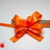 Подарочный бант «бабочка». Цвет оранжевый. 25 шт.