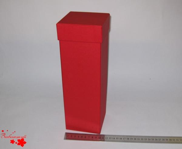 Подарочная коробка для шампанского. Цвет красный. 9*9*33 см.
