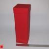Розмір 9х9х33 см. Коробка зі з`ємною кришкою для шампанського.Колір :червоний