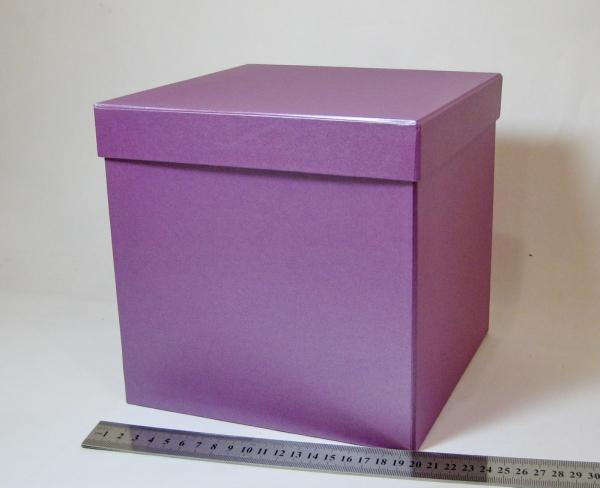 Коробка для подарка. Цвет фиолетовый. Размер 20x20x20см