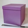 Розмір 20х20х20 см. Коробка зі з`ємною кришкою. Колір фіолетовий