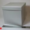 Розмір 20х20х20 см. Коробка зі з`ємною кришкою. Колір срібло