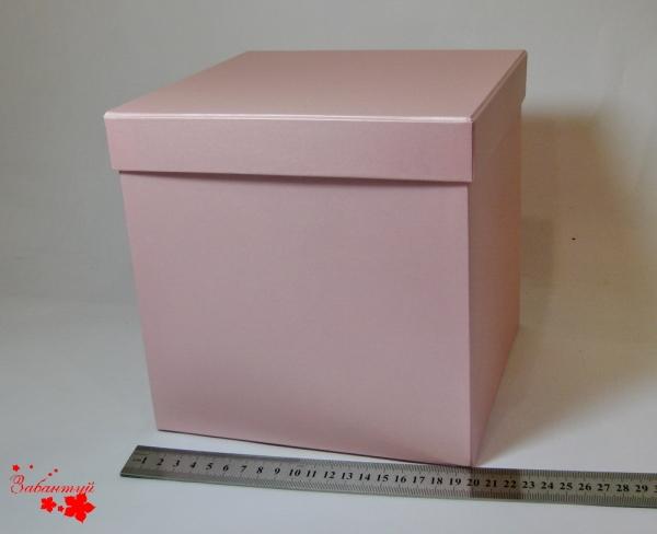 Подарочная коробка. Цвет розовый. Размер 20x20x20см