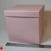 Розмір 20х20х20 см. Коробка зі з`ємною кришкою. Колір рожевий