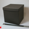 Розмір 20х20х20см. Коробка зі з`ємною кришкою. Колір коричневий