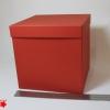 Розмір 20х20х20 см. Коробка зі з`ємною кришкою. Колір червоний