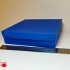 Коробка для упаковки подарка. Цвет светло-синий. Размер 20*20*4 см.