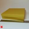 Коробка для упаковки подарка. Цвет золотистый. Размер 20*20*4 см.