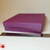 Розмір 20х20х4 см. Коробка зі з`ємною кришкою. Колір фіолетовий