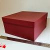 Коробка для подарка. Цвет бордовый. Размер 24,4*24,4*11 см