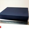 Розмір 20х20х4 см. Коробка зі з`ємною кришкою. Колір темно-синій