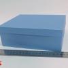 Розмір 20х17х9 см. Коробка зі з`ємною кришкою. Колір блакитний