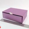 Розмір 17*12*5 см Висувна коробка. Колір фіолетовий