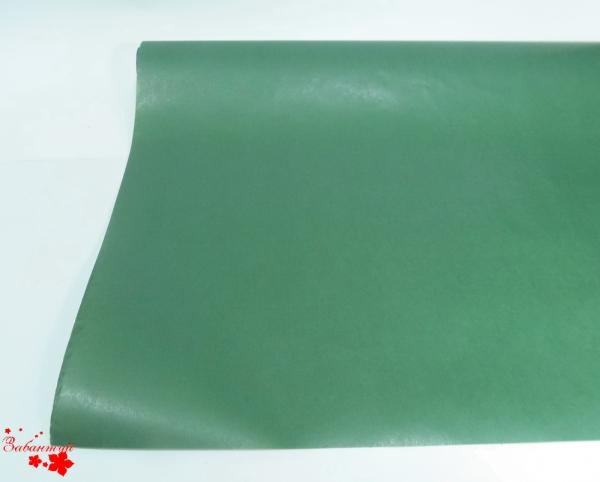 Однотонная бумага для упаковки подарков зеленого цвета. Рулон 70 см на 10 м.
