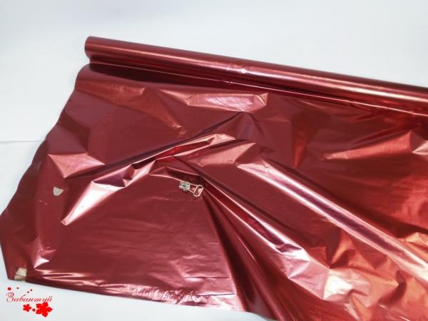 Полисилк односторонний. Цвет: бордовый. Рулон 100 см на 10 метров