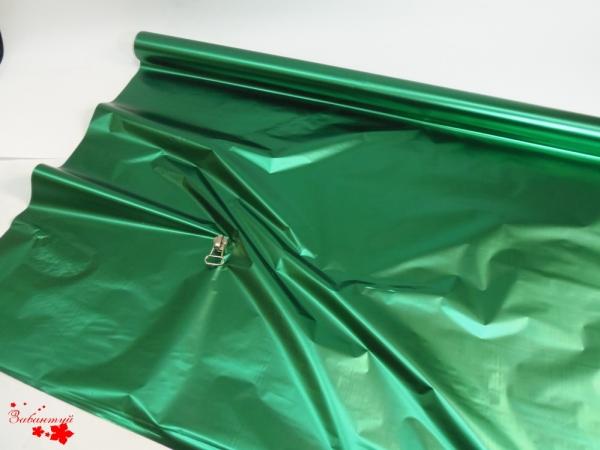 Рулон 1х20 метров. Полисилк зеленый односторонний