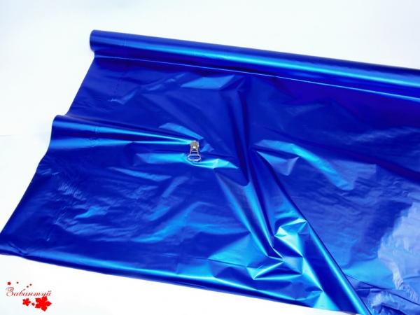 Рулон 1х20 метров. Полисилк синий односторонний