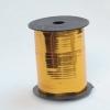 Лента металлизированная для упаковки подарков и цветов 0,5 см. 125 м. Цвет: золотой
