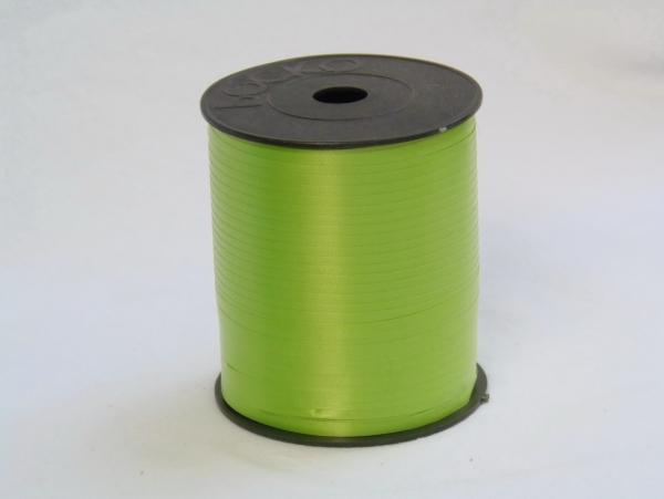 Лента подарочная пластиковая для упаковки подарков и цветов 0,5см. 300м. Цвет: светло-зеленый