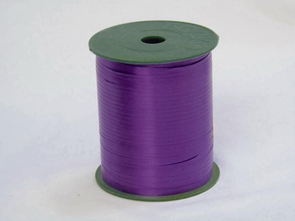 Лента для упаковки подарков и цветов пластиковая 0,5см. 300м. Цвет: фиолетовый