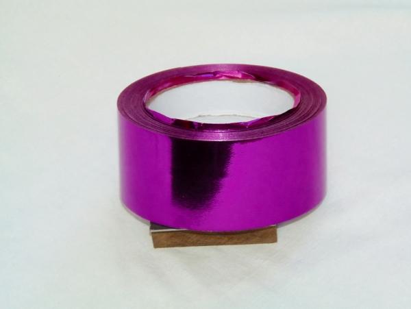 Лента металлизированная для упаковки 5см на 32м. Цвет: фиолеовый