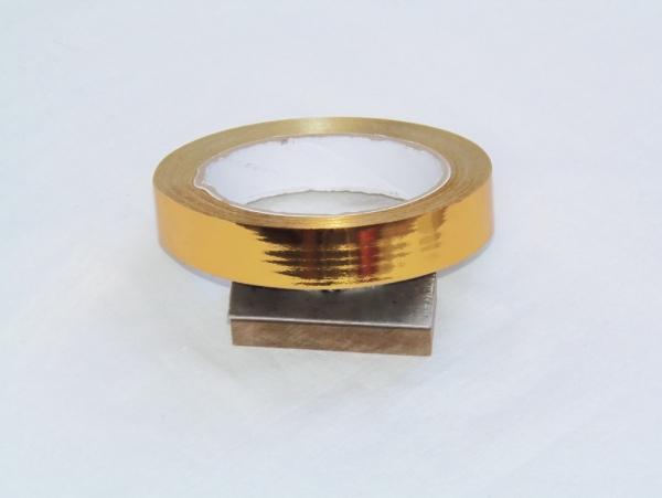 Лента металлизированная для упаковки 2см на 32м. Цвет: золото