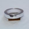 Лента металлизированная для упаковки 2см на 32м. Цвет: серебро