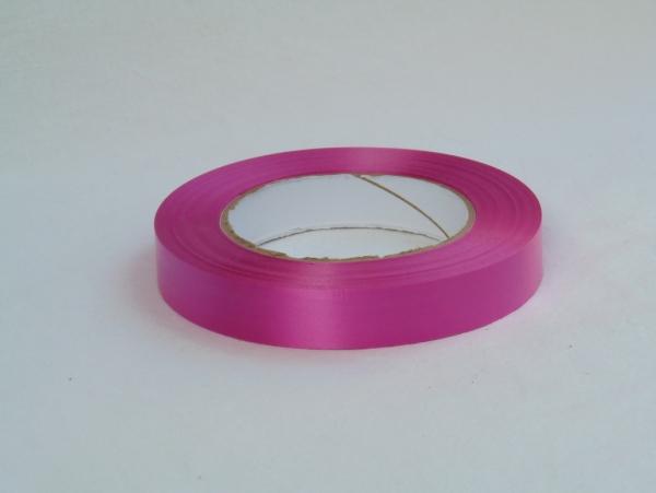 Лента полипропиленовая для упаковки подарков и цветов 2см на 50м. Цвет: темно-розовый
