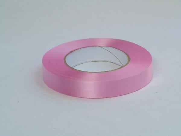 Лента полипропиленовая для упаковки подарков и цветов 2см на 50м. Цвет: светло-розовый
