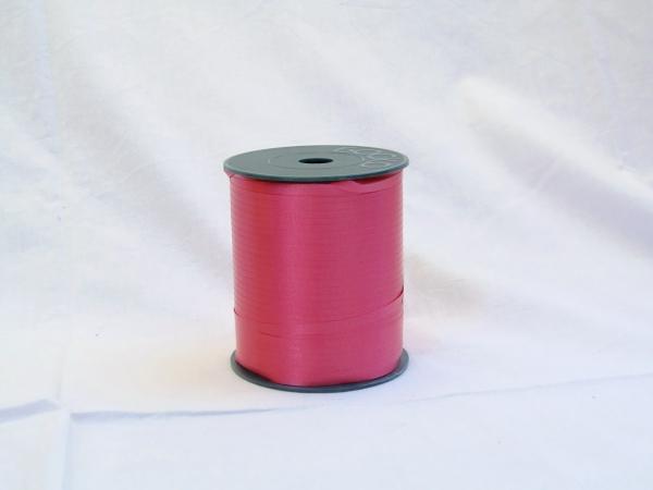 Лента для упаковки подарков и цветов пластиковая 0,5 см на 300м. Цвет: малиновый