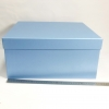 Розмір 36х36х15 см. Коробка зі з`ємною кришкою.Колір :блакитний