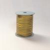 Лента с золотыми полосками для упаковки подарков и цветов 1 см. 63 м. Цвет: оливковый